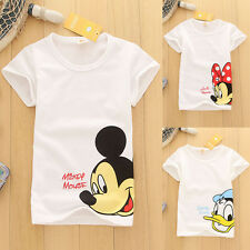 1PC Summer Kids Baby Boy Girl Clothing Child Cartoon Print White Casual T-Shirts