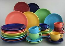 Creatable Top colours Dinner Ware Set, Porcelain, Multi-Colour, 30-Piece