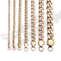 "18-36/""Men Stainless Steel 8mm Gold//Silver Diamond Cut Cuban Link Chain*C10"