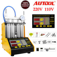 Autool CT150 Ultrasonic Fuel Injector Tester Cleaner For 110/220V Petrolic Car