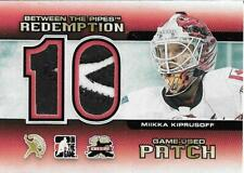 Miikka Kiprusoff 2011-12 Between the Pipes Redemption Game-Used Patch #/10