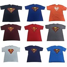 DC Comics Superman Logo Man of Steel Dawn of Justice Men's T Shirt 9 COLORS