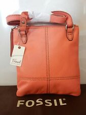 FOSSIL MADDOX MINI ROSE/TAN LEATHER BAG WITH DUST BAG