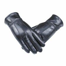 Herren Handschuhe Echtleder Luxuriös Warm Winter Kaschmir Solid Schleife Schwarz