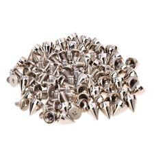 50pz Borchie a cono in metallo per pelle tessuto DIY Goth Punk Spot Q3L1