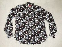 Women's Missoni Lindex Floral Summer Long Sleeve Blouse Top Size 36