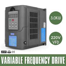 4hp 3kw Vfd variateur de Fréquence Solutions 220-250v Control Generation