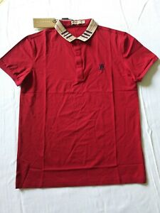 New Authentic Burberry polo Shirt Military Red/ size M