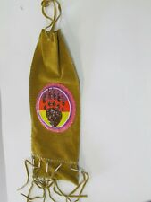 NATIVE AMERICN BEADED PIPE HAND BAG/PURSE WITH DAZZLING BROWN BEADED BEAR  CLAW