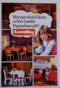 LUNDBY VINTAGE DOLLHOUSE CATALOG FROM 1972 PRINTED IN GERMAN