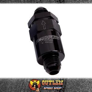 AEROFLOW BILLET FUEL FILTER -6AN BLACK - AF609-06BLK