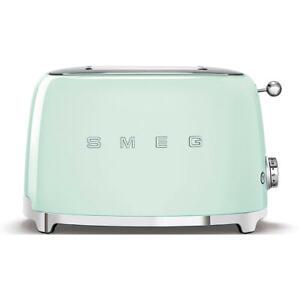 Smeg 50s Retro Aesthetic Style 2 Slice Bread Toaster Pastel Green TSF01PGAU NEW