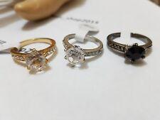Unique Stylish Quality Gold/Silver/Black Rhinestone Czech Rhinestone Ring Gift
