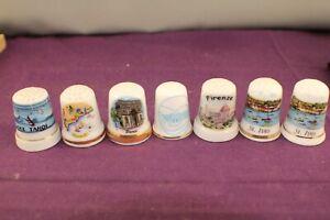 7 Collectible Porcelain Thimbles