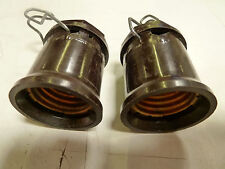 2 - Leviton In Line Medium Base Light Sockets w/Hangers Hooks 660W 250V