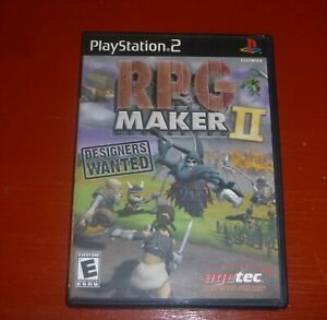 RPG Maker II 2 (Sony PlayStation 2, 2003 PS2)-Complete