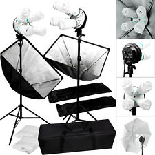 Studio 2000w Video Photography Softbox Stand Continuous Lighting Kit