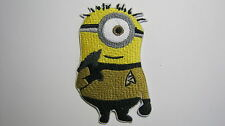 DESPICABLE ME STAR TREK CAPTAIN KIRK MINION EMBROIDERED PATCH W/ GOLD SHIRT