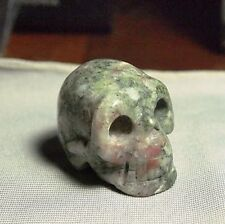 Ruby in Fushite Skull Carving Natural,184.27ct,1.3oz,CAR-A34, 37x27x25mm
