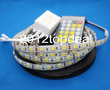 5M 5052 300LEDs Warm/Neutral/Cool White Dimmable LED Strip Light+ IR Controller