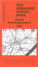 OLD ORDNANCE SURVEY MAP HUNTINGDON ST IVES ST NEOTS CAXTON EATON SOCON 1897