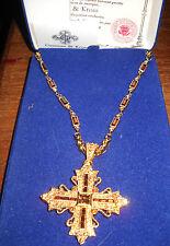 RARE Camrose & Kross Jacqueline Jackie Kennedy Maltese Cross Pendant w/Box CoA