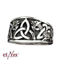 Echt etNox Keltischer Knoten Ring 925er Silber Symbol Schmuck - NEU