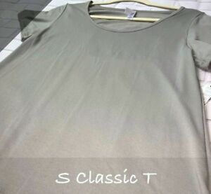 NWT Lularoe Size Small Stretchy Solid Grey Women's Classic T Shirt Top