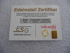 *NEU* 1g GOLDBARREN + ZERTIFIKAT + KAPSEL Geschenk wie Platin Palladium Silber