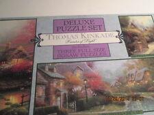 Thomas Kinkade Deluxe Puzzle Set 3 Full size Jigsaw Puzzles New