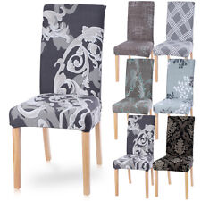 UK 1/2/4/6PCS Dining Chair Covers Wedding Party Home Seat Cover Stretch Spandex~