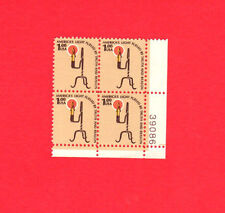 SCOTT # 1610 Rush Lamp & Candle United States U.S. Stamps MNH - Plate Block of 4
