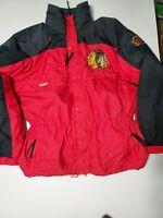 Columbia NHL Chicago Blackhawks Vintage Winter Men's Parka Jacket Size Large
