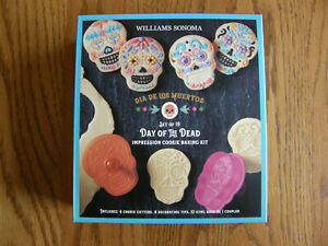 Williams Sonoma Halloween Day of the Dead Skull Cookie Cutters & Decorating Kit