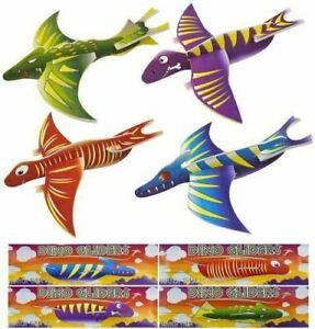 6 X Dinosaur Gliders Kids Party Bag Fillers Boys Xmas Stocking Pocket Money Toy