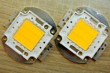 2 Stk. 20W LED Chip 35*35 mil  warmweiss, 2000 Lm,3000K,ww, COB,Fluter, Aquarium