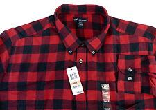 John Ashford Long Sleeve 100% Cotton Plaid Flannel Shirt w Chest Pocket 9 Colors