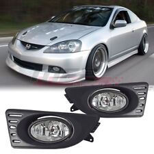 For 2005-2007 Acura RSX PAIR OE Factory Fit Fog Light Bumper Kit Clear Lens