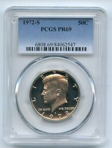 1972 S 50C Kennedy Half Dollar PCGS PR69