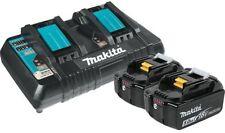 2  New Makita 18V BL1850B Batteries, & 1 DC18RD Dual Battery Charger 18 Volt USB