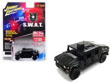 Johnny Lightning 1:64 Hummer Police S.W.A.T. Humvee Diecast Matte Black JLCP7159