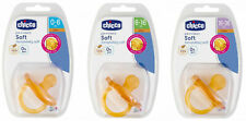 CHICCO BABY PHYSIO SOFT SOOTHER LATEX DUMMY AGES 0M-6M, 6M-16M, 16M-36M 1-2 PACK