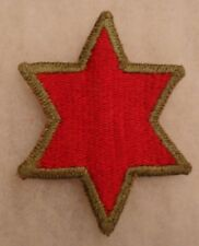 WWII 6TH INFANTRY DIVISION OD BORDER  PARTIAL WHITE BACK