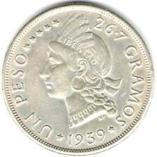 DOMINICAN REPUBLIC COIN $ 1 1939  AU