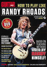 HOW TO PLAY RANDY RHOADS GUITAR WORLD DVD NEW