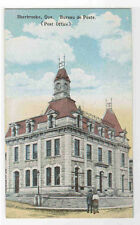 Post Office Sherbrooke Quebec Canada 1910c postcard