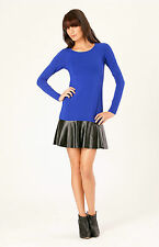 Hale Bob Solid Knit Peplum Dress | Long Sleeve XXS S NWT 3BRK6209 *