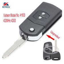 Upgraded Flip Remote Key Fob for Mazda 2 3 6 2002-2005 Visteon Model No. 41803