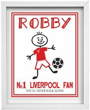 STICK PEOPLE PICTURE | Personalised Name & All Football Clubs available  (NP211)