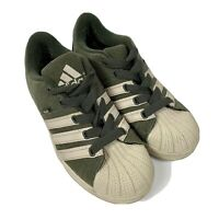 ADIDAS Hemp Olive Green Cream Stripes & Soles Mens Athletic Sneakers Sz 8 - Rare